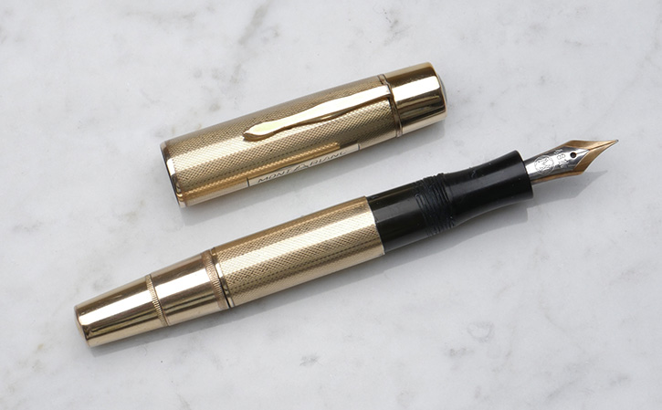 Montblanc 132 double gold rolled