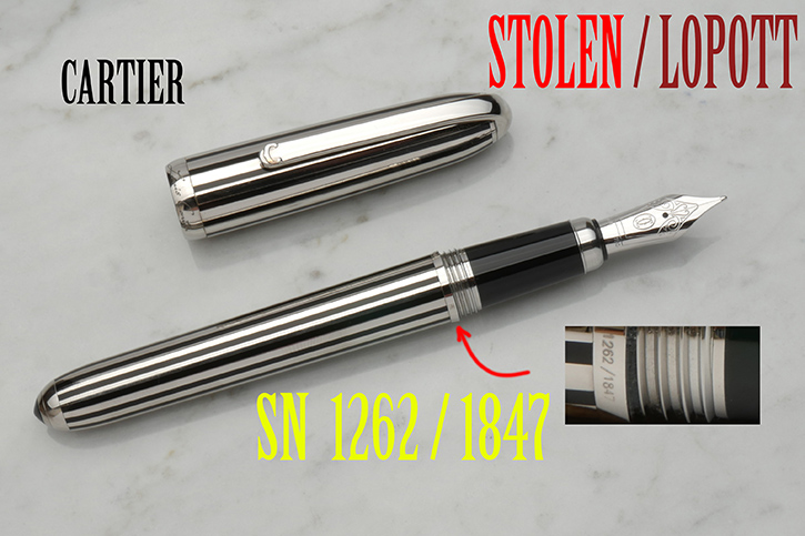 Louis Cartier Dandy töltőtoll fountain pen 1262 / 1847
