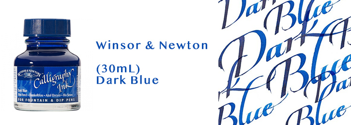 Winsor-Newton blue ink tinta